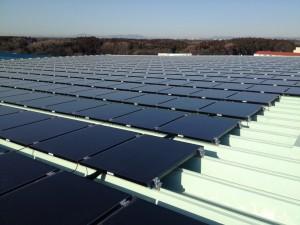 茨城県ひたちなか市物流センター 太陽光発電システム