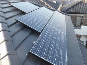 太陽光発電システム完成