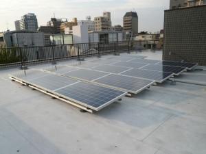 東京都新宿区の賃貸マンション太陽光発電