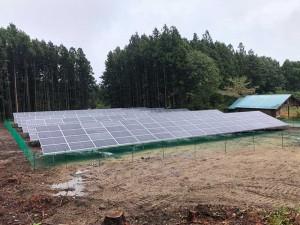 群馬県群馬郡吉岡町 野立て太陽光発電
